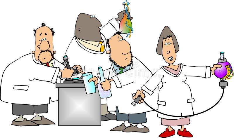 Científicos en el trabajo ilustración del vector