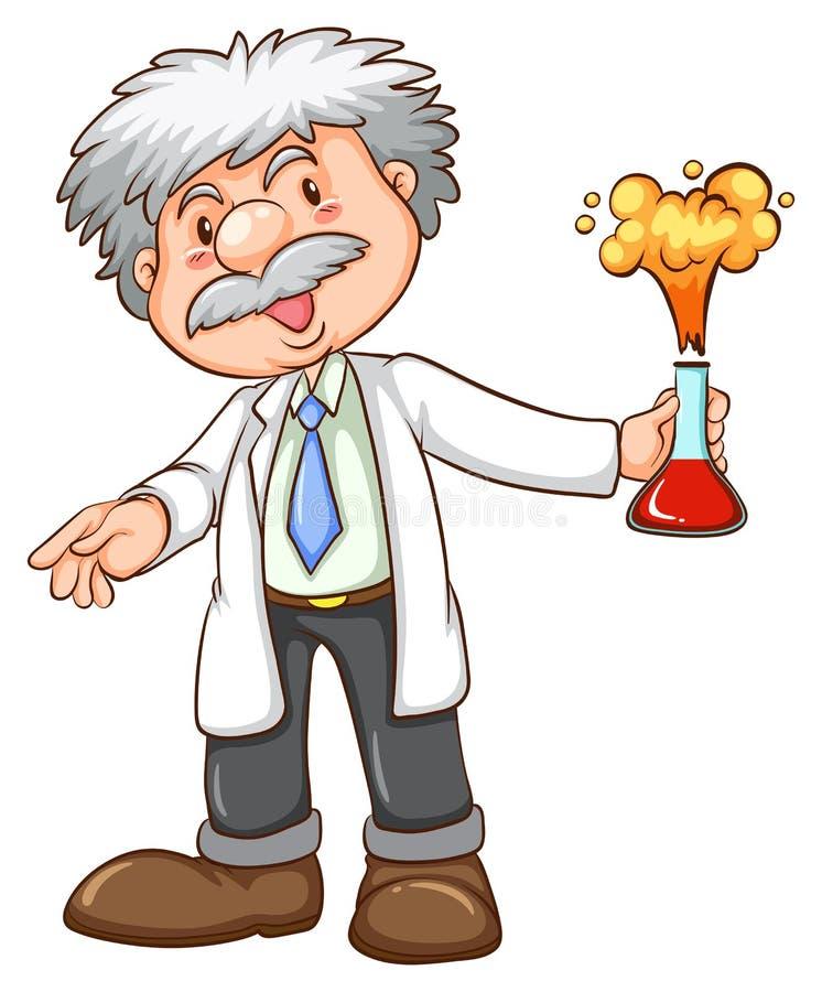 cientista ilustração do vetor