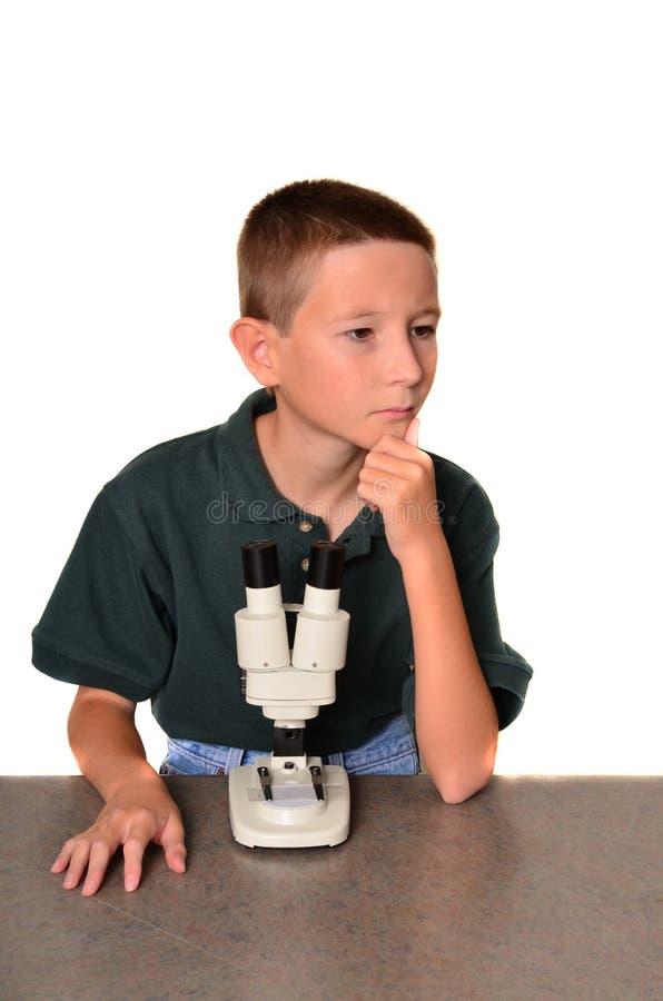 Cientista do menino fotografia de stock