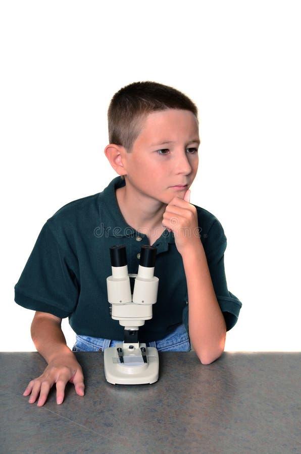 Cientista do menino foto de stock