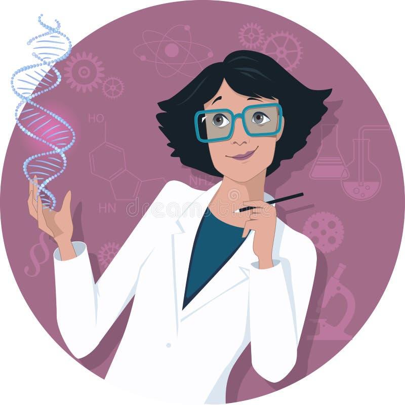 Cientista fêmea ilustração stock