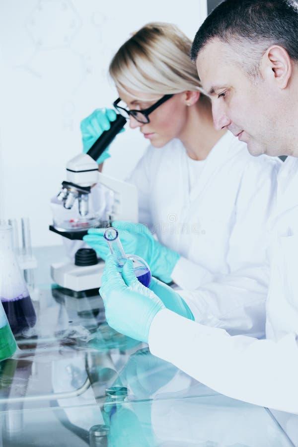 Cientista no laboratório químico imagens de stock royalty free