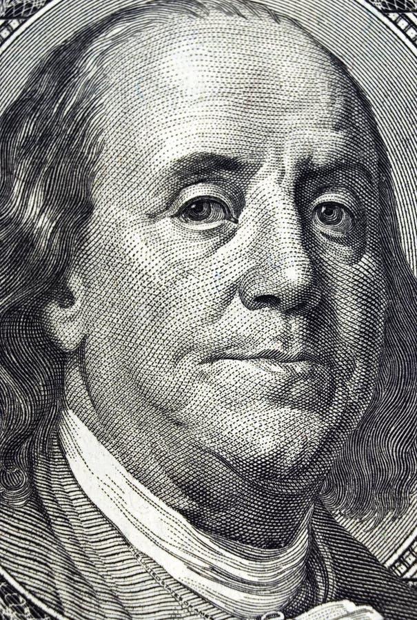 Cientos dólares Bill. imagen de archivo