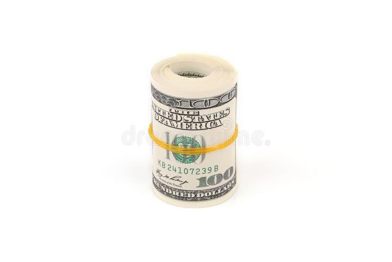 Cientos Dólares De Billetes De Banco Foto de archivo