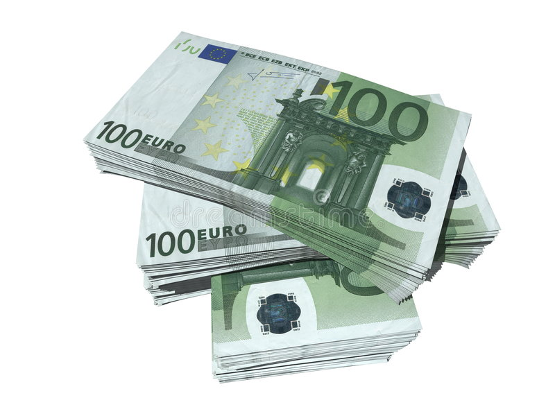 Cientos euros ilustración del vector