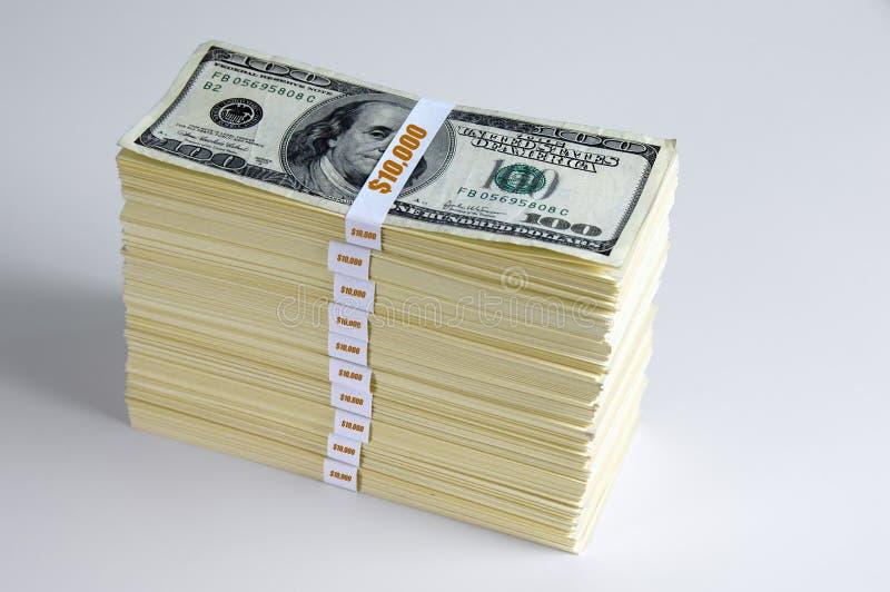 Cientos mil dólares fotos de archivo libres de regalías