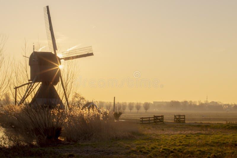 Ciepły i wibrujący wschód słońca gradient fotografia royalty free