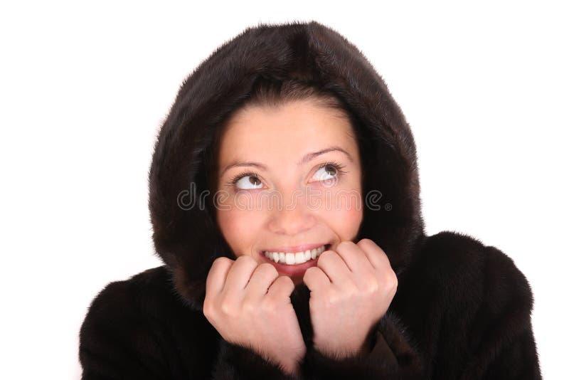 ciepła żakiet norka zdjęcia stock
