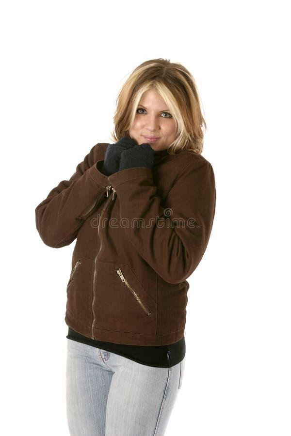 ciepła wersji zimy pionowe fotografia royalty free