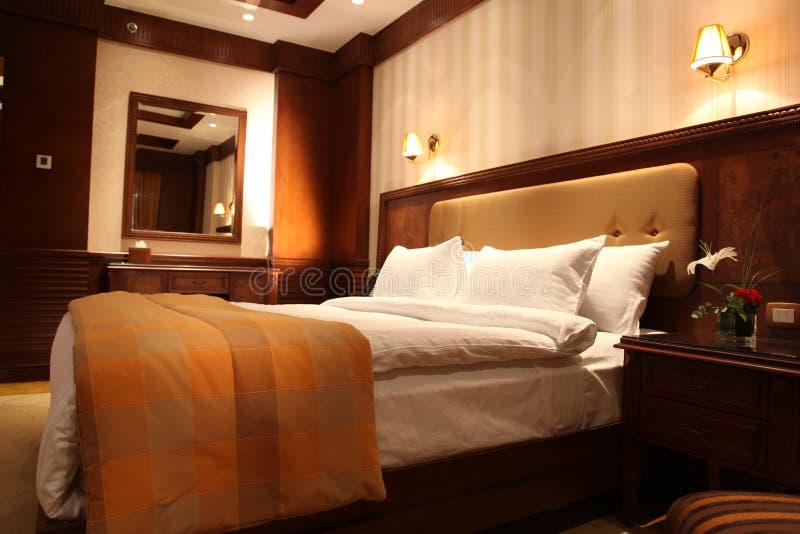 Ciepły łóżko zdjęcie royalty free