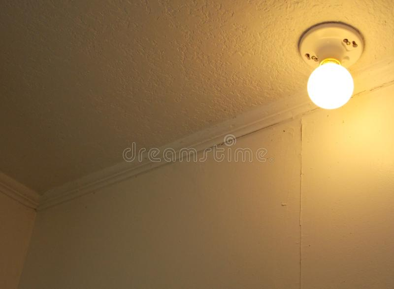 Ciepły żółty światło dla tła lub kopii zdjęcia stock