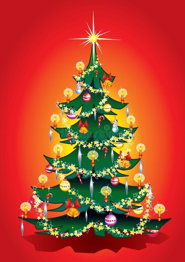 ciepły drzewa xmas ilustracji