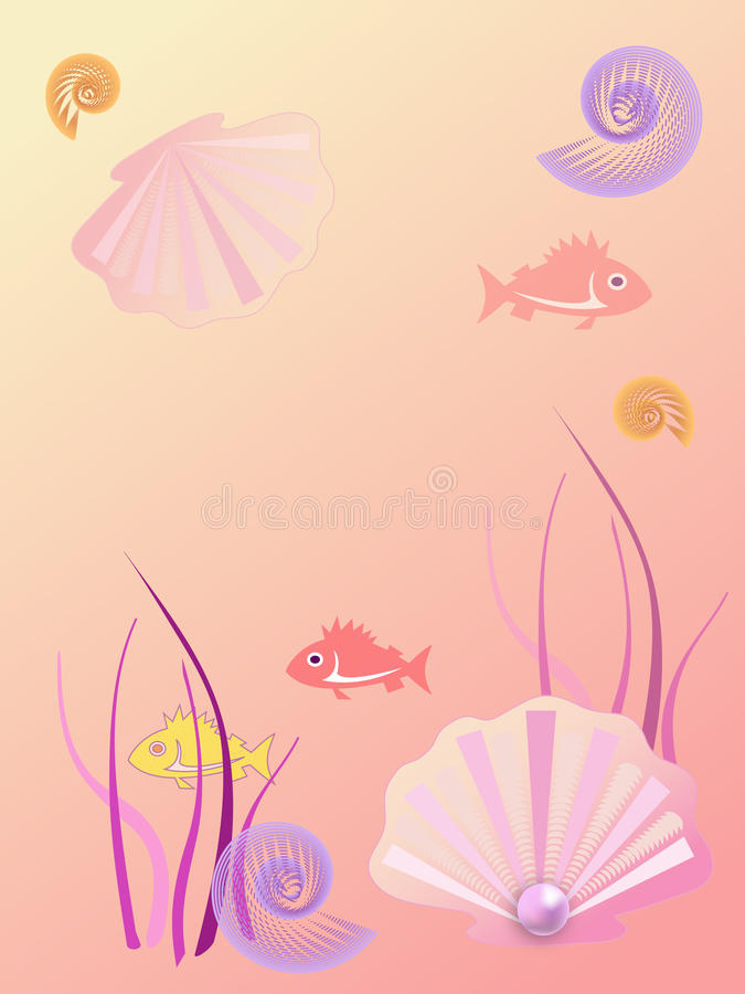 Ciepły Tła Morze Obraz Royalty Free