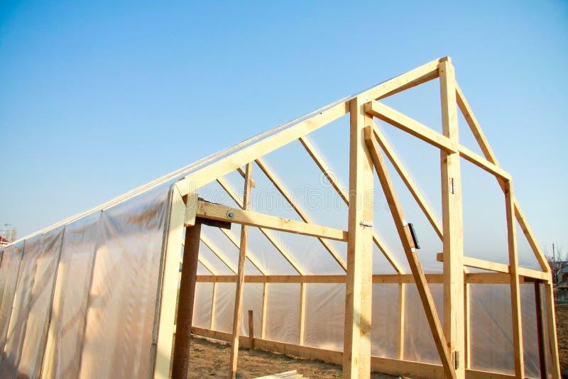 cieplarnia drewniana zdjęcie royalty free