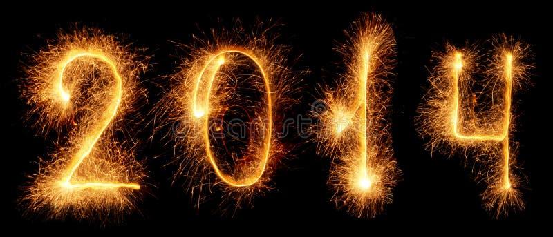 Cierge magique. Nouvelle année 2014 image stock