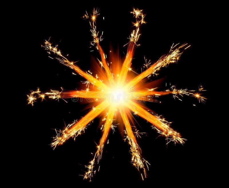 Cierges magiques de Noël avec l'éclat brillant photo libre de droits