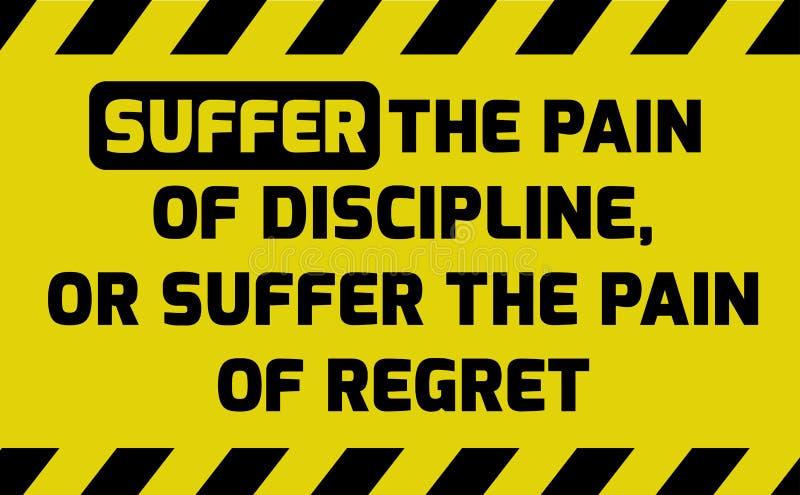 Cierpi ból dyscyplina znak ilustracja wektor
