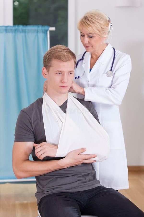 Cierpienie pacjent zdjęcie stock