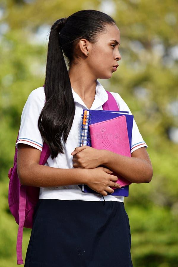 Cierpliwy Mniejszościowy dziewczyna uczeń obraz royalty free
