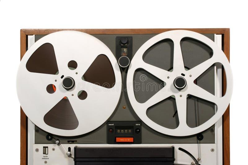Cierre abierto de la cubierta de cinta del carrete imagenes de archivo