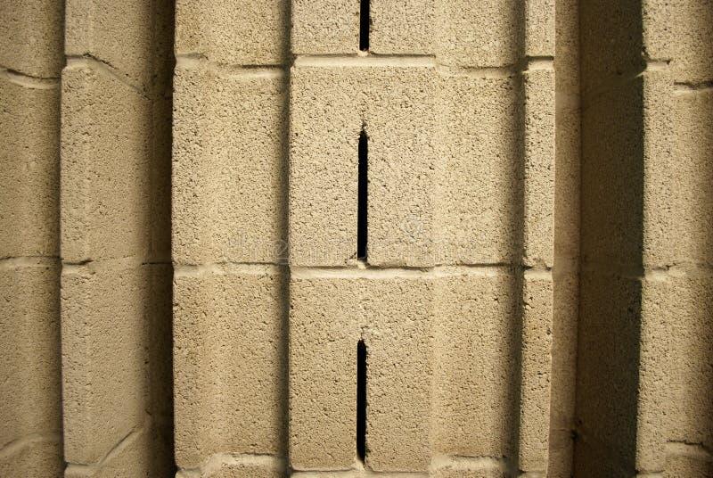Cierre acústico del bloque de escoria para arriba foto de archivo libre de regalías