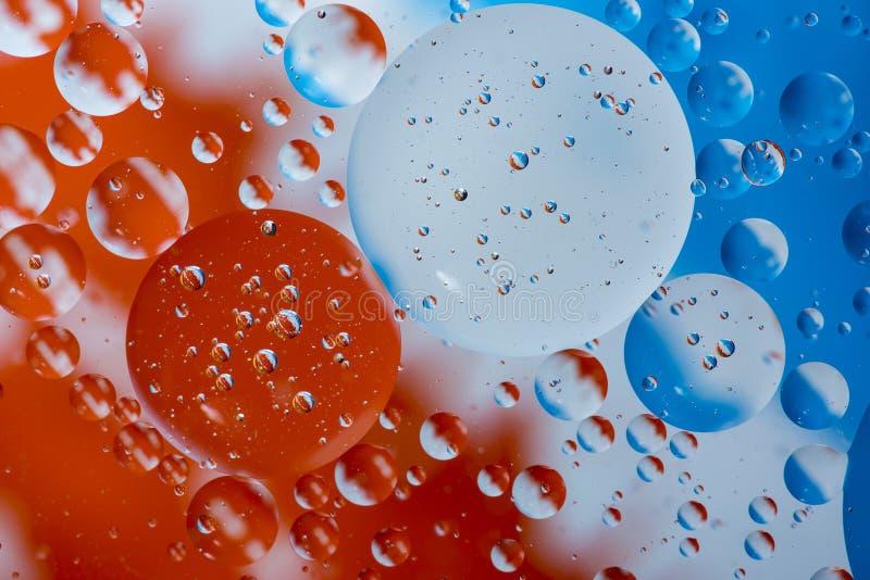 Cierre aceite/agua del fondo colorido abstracto para arriba imagen de archivo libre de regalías