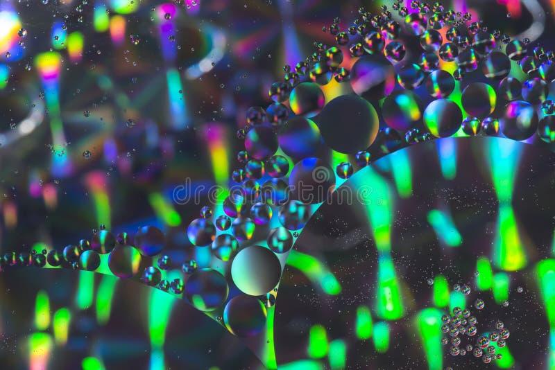 Cierre aceite/agua del fondo colorido abstracto para arriba foto de archivo libre de regalías