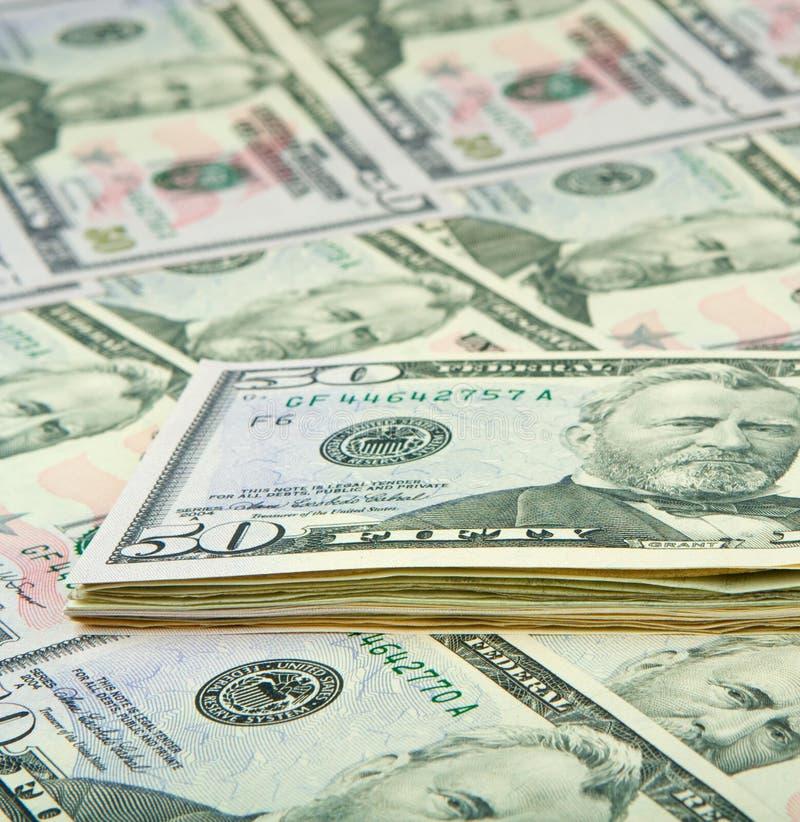 Cierre americano del dinero para arriba foto de archivo libre de regalías