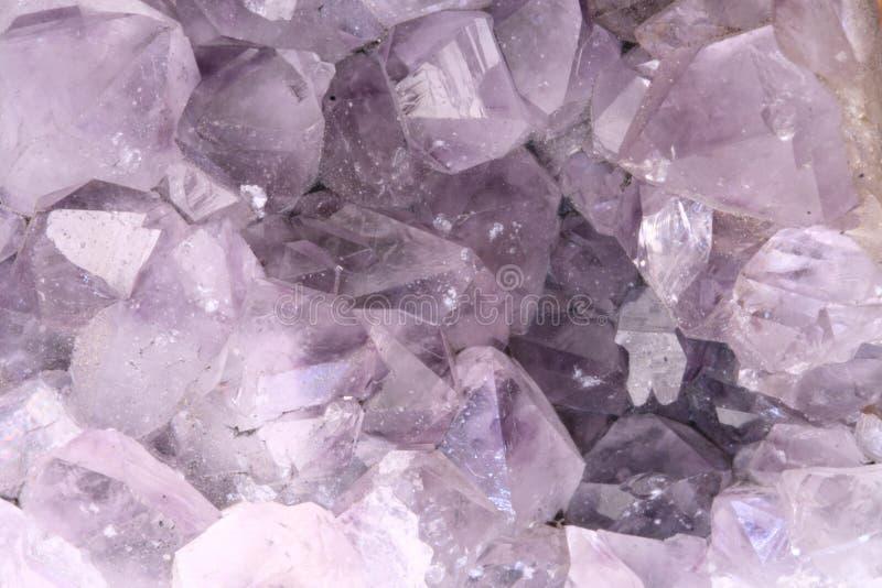 Cierre Amethyst de la roca fotografía de archivo