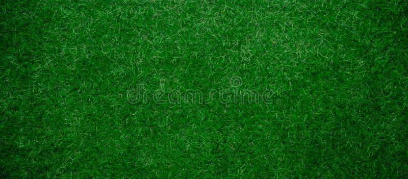 Cierre artificial panorámico del fondo de la hierba verde para arriba fotos de archivo libres de regalías
