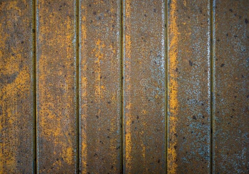 Cierre azul de la textura del envase del buque de carga para arriba sin hierro o acero labelsRusty de la textura del metal del gr imágenes de archivo libres de regalías