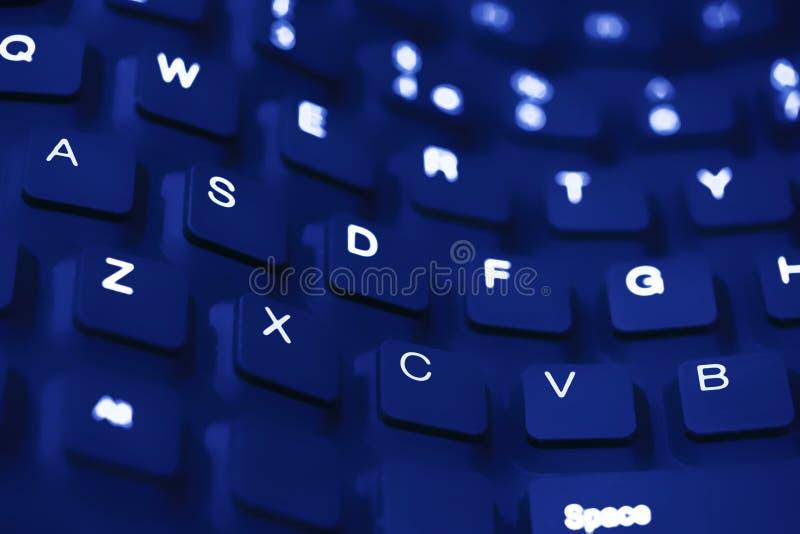 Cierre azul del teclado de la onda para arriba foto de archivo libre de regalías