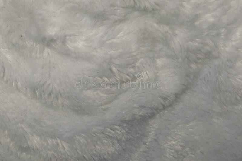 Cierre blanco de la toalla del algodón encima de la textura de la foto del fondo imágenes de archivo libres de regalías