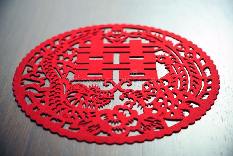 Cierre chino de la decoración de la boda para arriba imagen de archivo libre de regalías