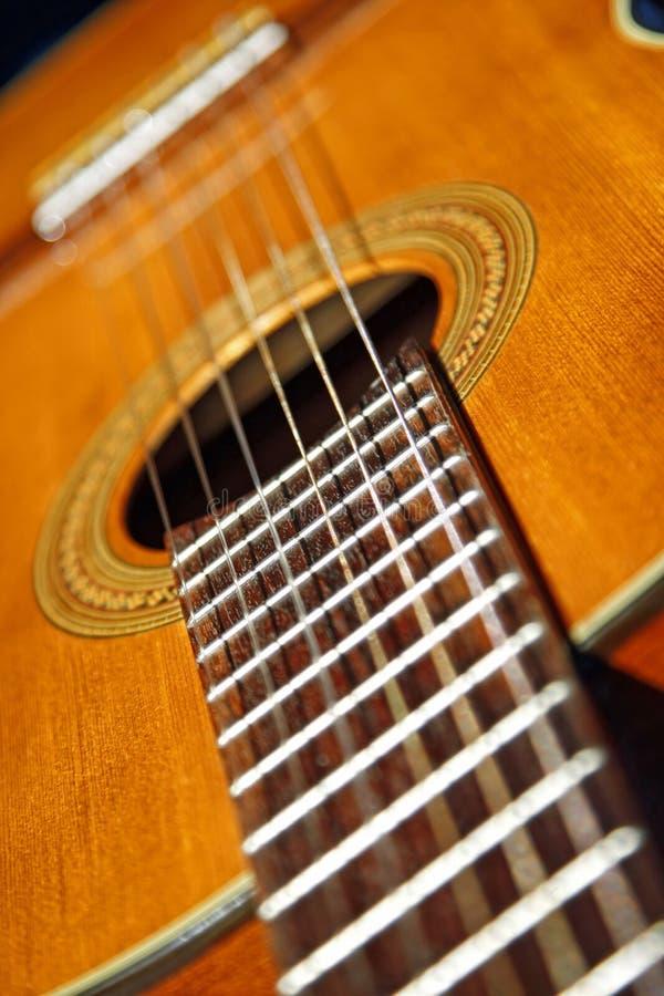 Cierre clásico de la guitarra para arriba imágenes de archivo libres de regalías
