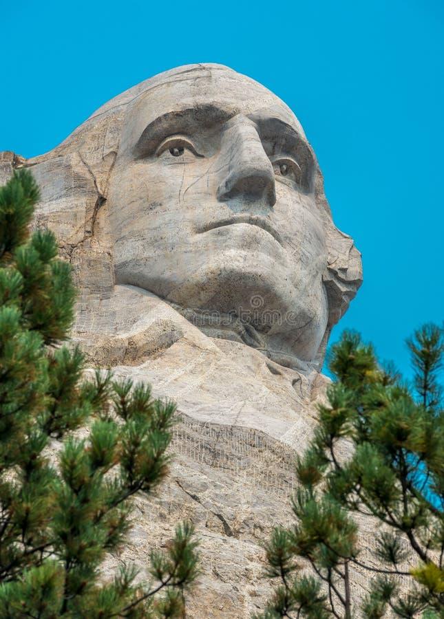 Cierre conmemorativo nacional de George Washington de la escultura del monte Rushmore para arriba imagenes de archivo