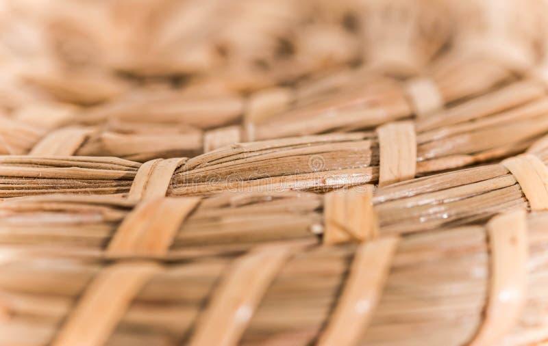 Cierre de bambú de la textura de la cesta encima de la macro fotos de archivo libres de regalías