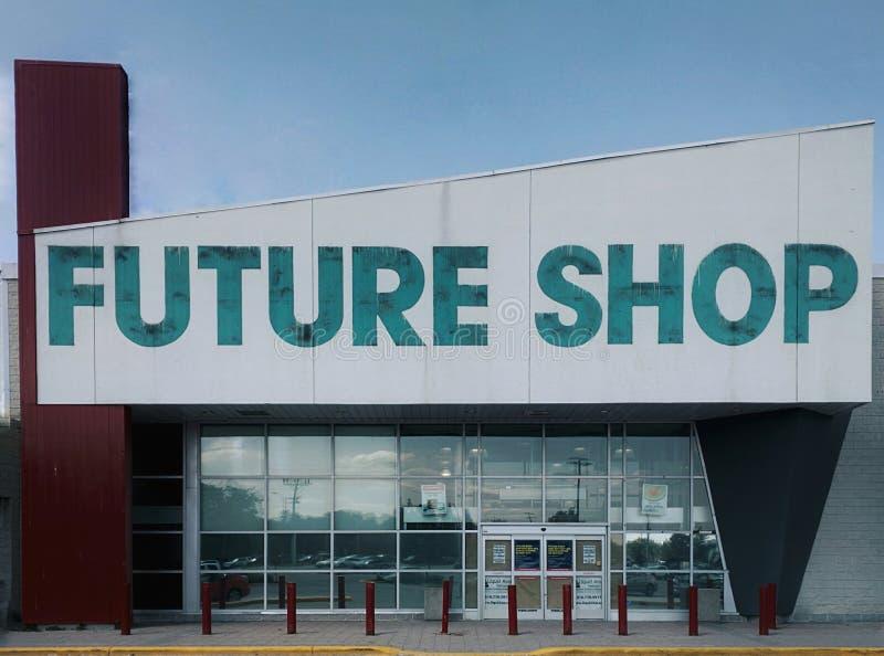 Cierre de Future Shop foto de archivo