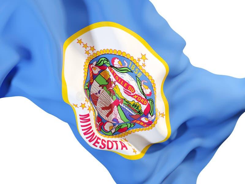 Cierre de la bandera del estado de Minnesota para arriba Banderas del local de Estados Unidos ilustración del vector