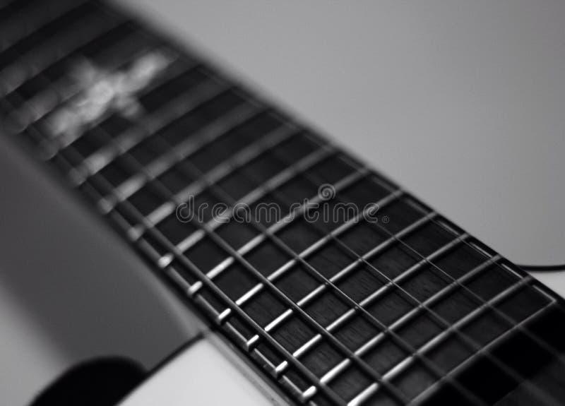 Cierre de la guitarra eléctrica para arriba fotos de archivo libres de regalías