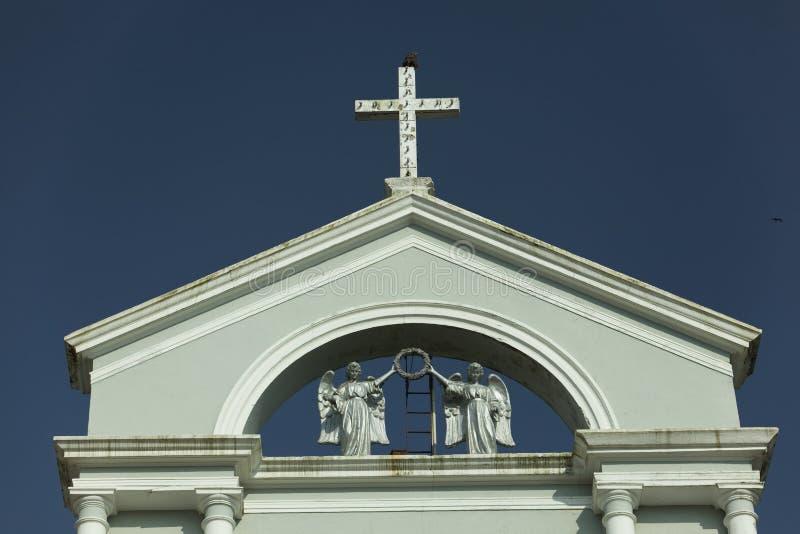 Cierre de la iglesia de Milagres para arriba del exterior Mangalore, Karnataka, la India foto de archivo libre de regalías