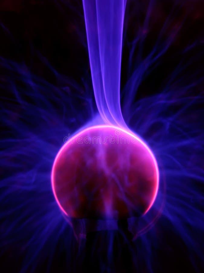 Cierre de la lámpara del plasma para arriba fotos de archivo