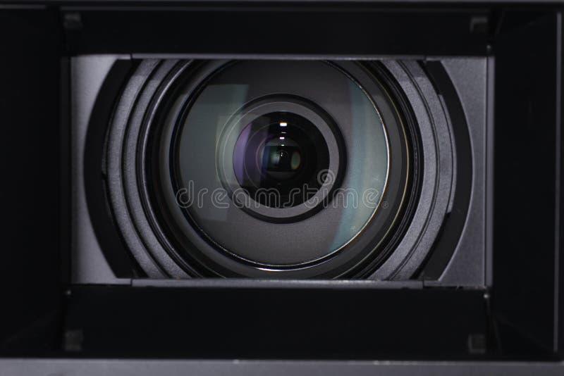 Cierre de la lente de cámara para arriba foto de archivo