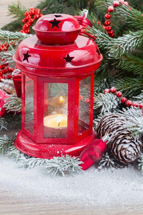 Cierre de la linterna de la Navidad para arriba foto de archivo libre de regalías