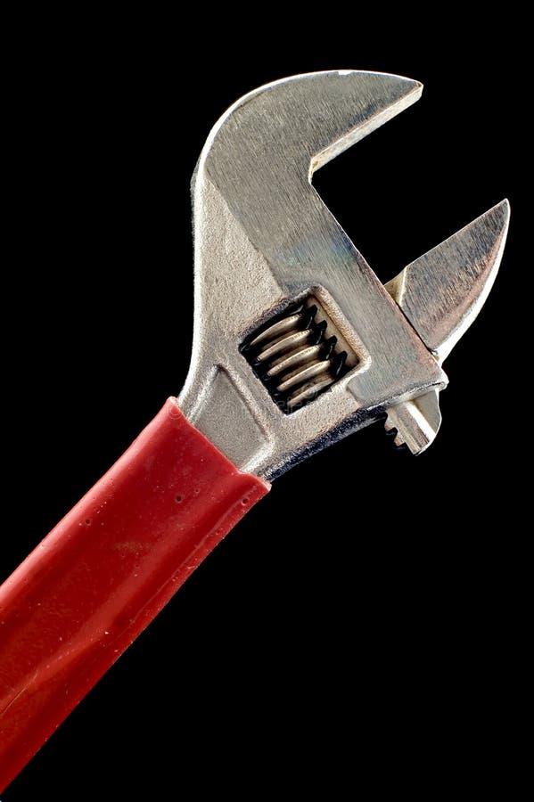 Cierre de la llave inglesa ajustable para arriba fotografía de archivo libre de regalías