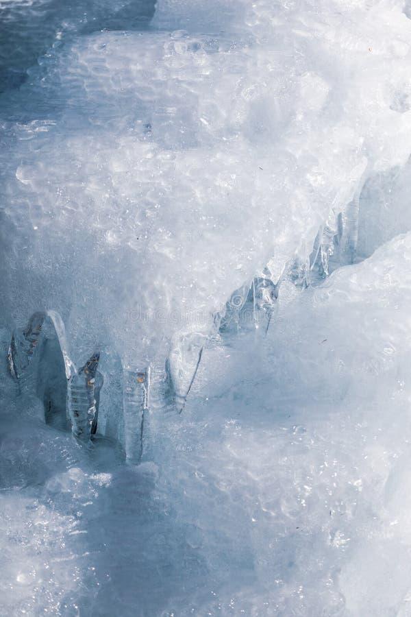 Cierre de la pared del agua helada para arriba fotos de archivo libres de regalías