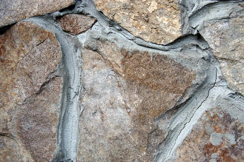 Cierre de la pared de piedra para arriba imagenes de archivo