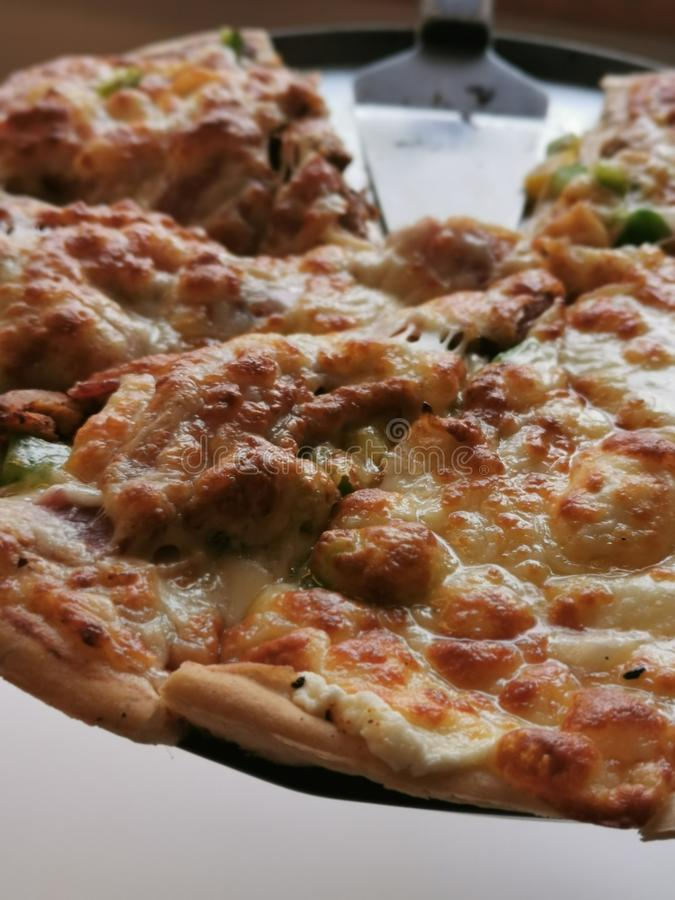 Cierre de la pizza foto de archivo libre de regalías