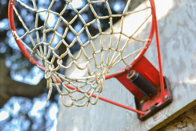 Cierre de la red del baloncesto para arriba fotografía de archivo libre de regalías