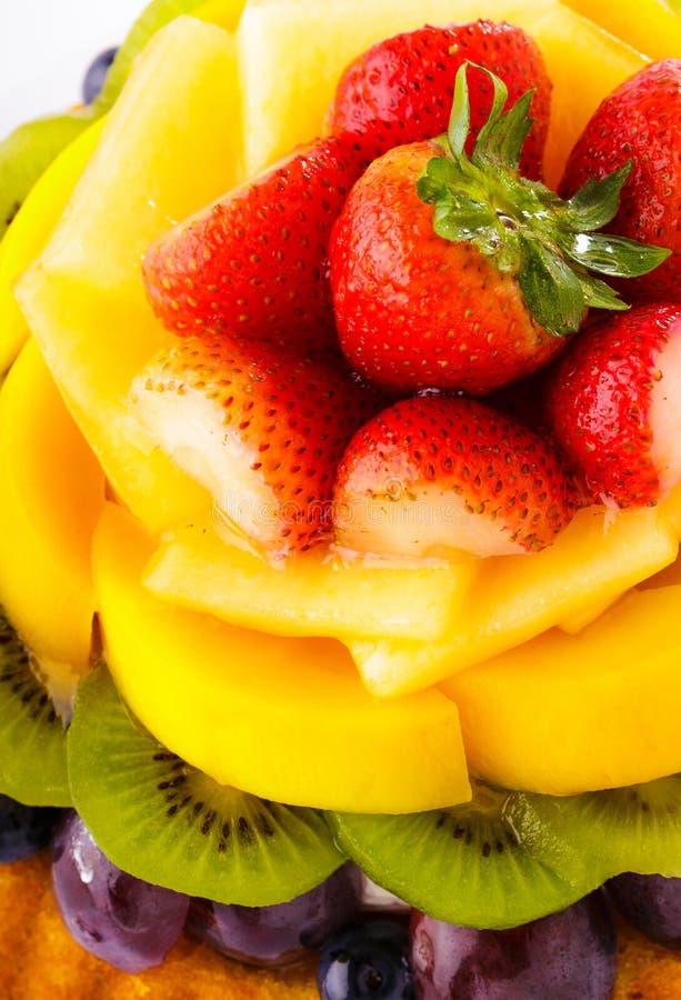 Cierre de la tarta de la fruta para arriba imagen de archivo